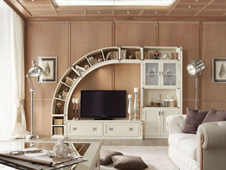 TV Desk Stand And Library Design Ideas