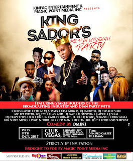 CLUB VEGAS ON FIRE: As King Sador Set To Host Vector, Myro And Terry Apala At Media Unleas Party 2