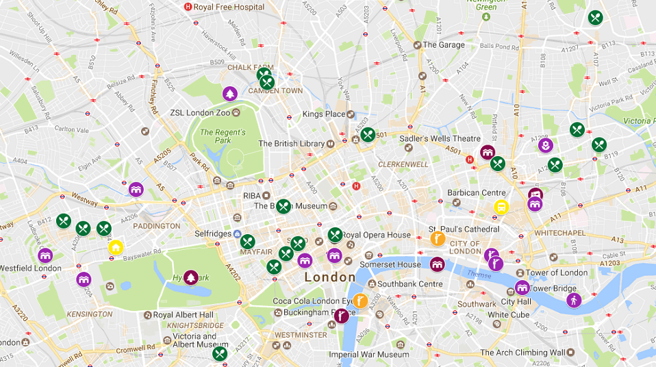 Google Maps Reisekarte London