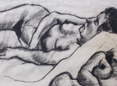 Dolores Puthod - studio di nudo femminile - disegno a carboncino - arte - annunci