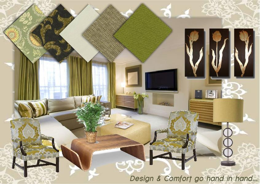 Interiors of a Sample Flat by kirat dhillon