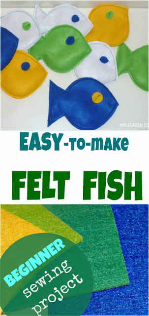 Learn how to sew felt fish - a fun homemade kids game at nearly zero cost and yes, it's an easy, beginner sewing tutorial.