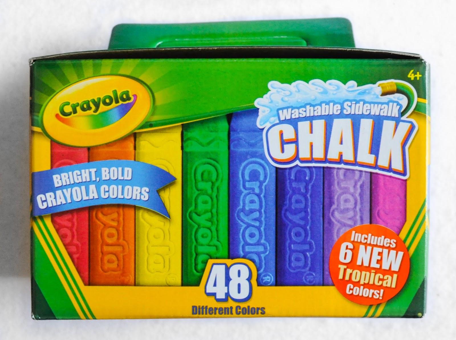 48 Count Crayola Washable Sidewalk Chalk: What\'s Inside the Box ...