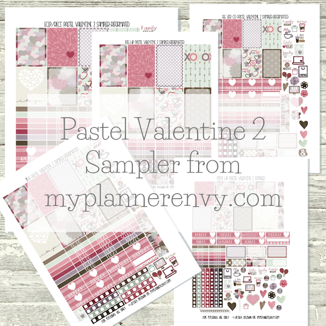 Free Printable Pastel Valentine 2 Samplers from myplannerenvy.com