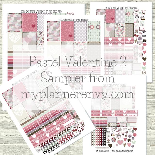 Free Printable Pastel Valentine 2 Samplers from myplannerenvy.com