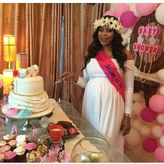 Lovely Photos From Actress Mimi Orjiekwe's Baby Shower Yesterday Night