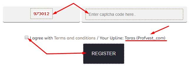 Регистрация в Zeus Profits 3