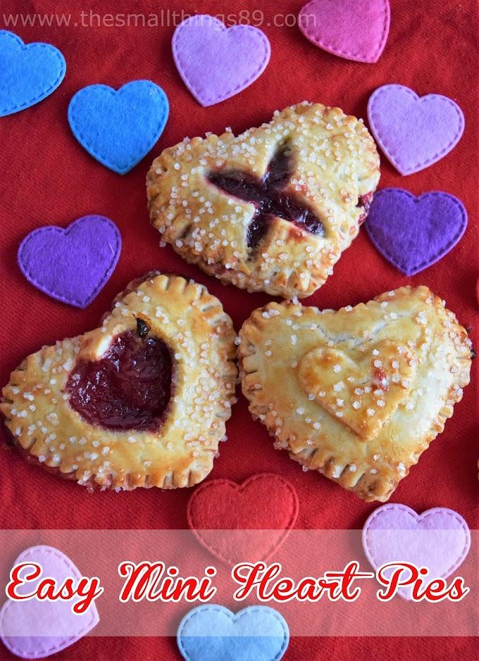 Easy Mini Heart Shaped Pies! So Cute!