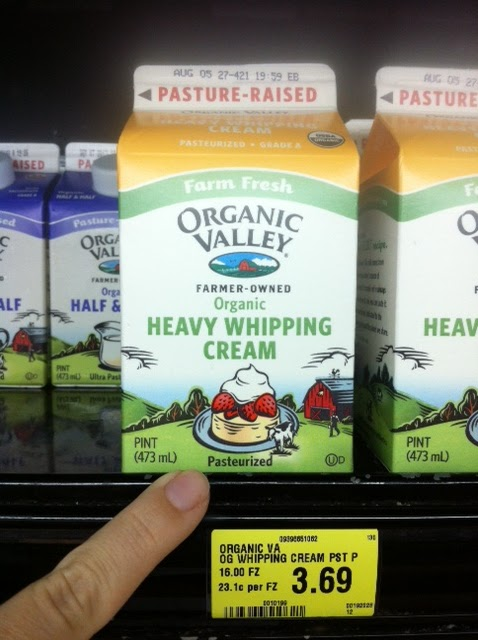 Like A Giddy School I Shrieked With Delight In The Dairy Aisle At Whole Foods Not Only Were They Carrying Pasture Raised Cream But It Was