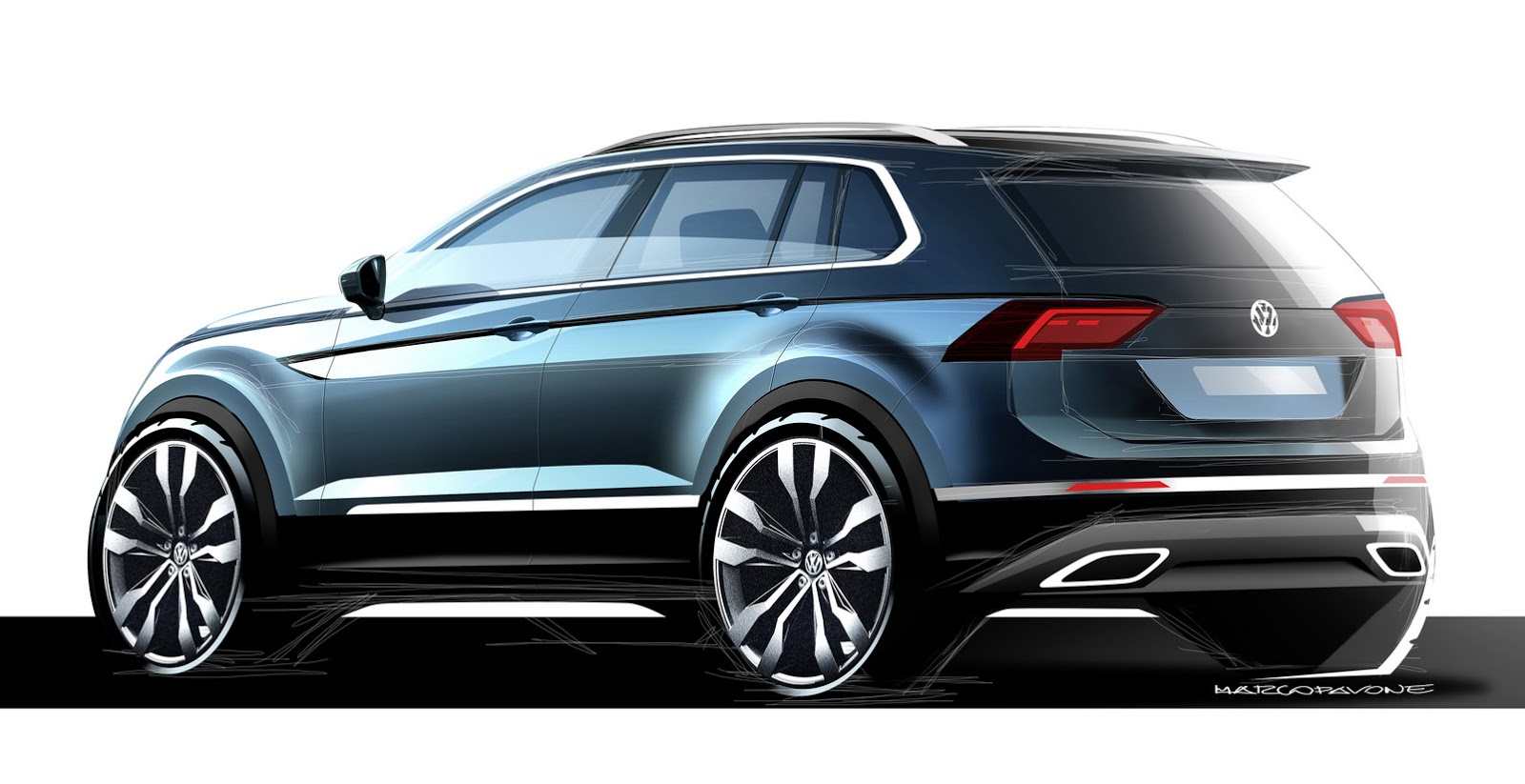 2017 vw tiguan is bigger more mature and more premium carscoops. Black Bedroom Furniture Sets. Home Design Ideas