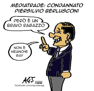 Berlusconi, Foffo, cronaca, mediatrade, piersilvio berlusconi, vignetta satira
