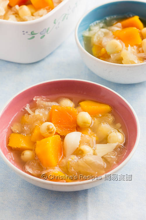 Papaya and Snow Ear Dessert Soup01
