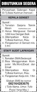 Lowongan Kerja Perusahaan Galangan Kapal Tanjung Balai Karimun