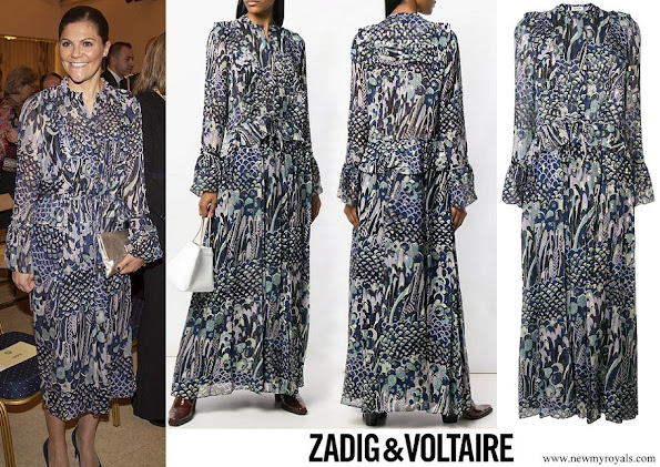 Crown Princess Victoria wore ZADIG and VOLTAIRE floral print dress