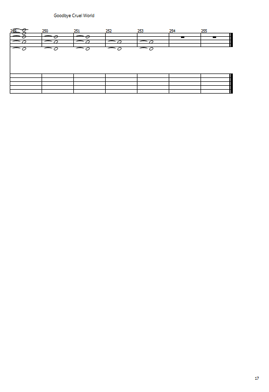 Another Brick In The Wall Tabs Pink Floyd - How To Play Pink Floyd Chords On Guitar Online