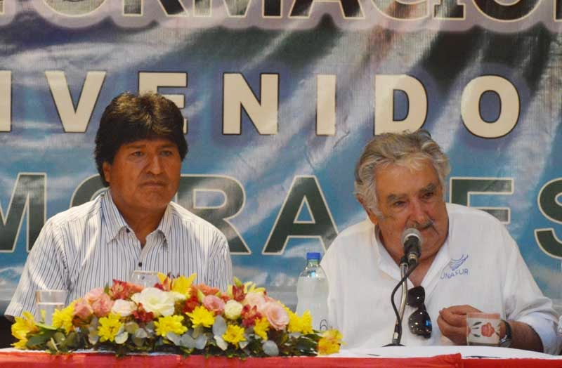 Pepe Mujica Evo Morales PIT CNT