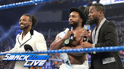 WWE SmackDown Live Royal Rumble United States New Year Kofi Kingston Xavier Woods