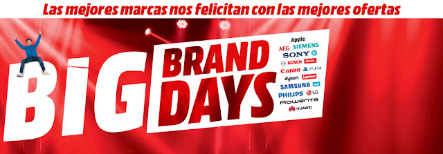 Top 10 ofertas folleto Big Brand Days de Media Markt
