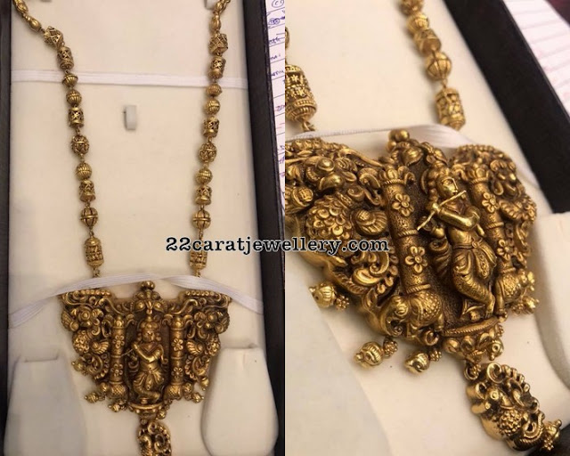 Lord Krishna Nakshi Pendant and Chain