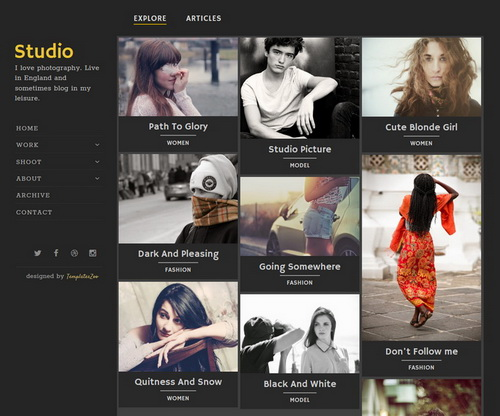 Studio Blogger Template