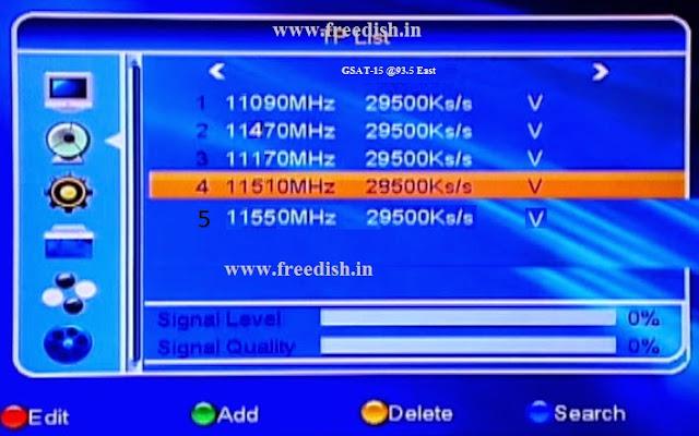 Retune or rescan DD Freedish Set-Top Box for GSAT15 satellite