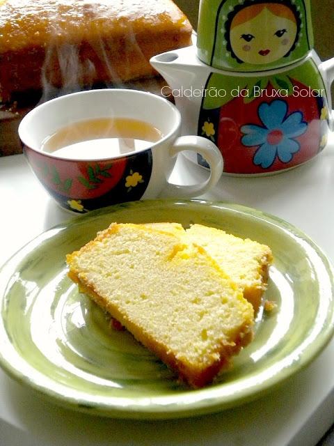 Bolo de mexerica e limão siciliano