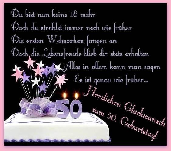 Herzlichen Glückwunsch zum 50 Geburtstag!