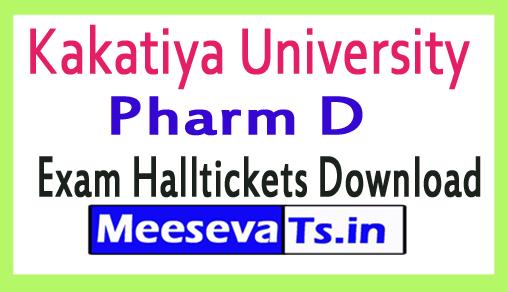 Kakatiya University Pharm D Exam Halltickets Download