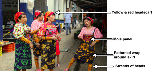 traditional dress, Kuna costume, Indian costume, tribe costumes, traditional costumes, tribe costume, tride dress