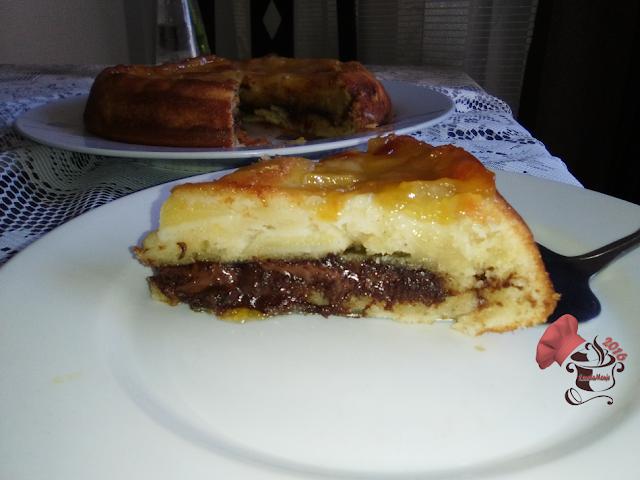 Tarta de Manzana con Nutella corte