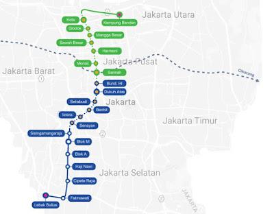 Peta Rute MRT Jakarta