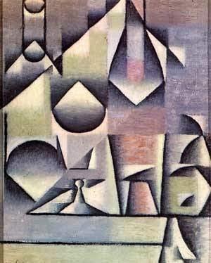 Garrafa e Jarro - Técnica de colagem e cubismo nas obras de Juan Gris