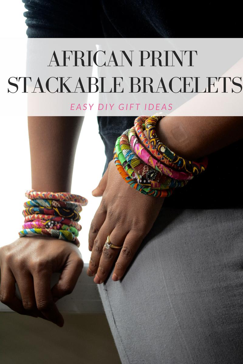 african print bracelets diy tutorial