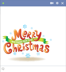 Bright Merry Christmas FB Sticker