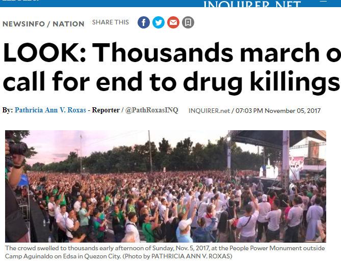 LOOK: Netizens Exposed Inquirer for Allegedly Using El Shaddai Photo on November 5 EDSA Rally Report