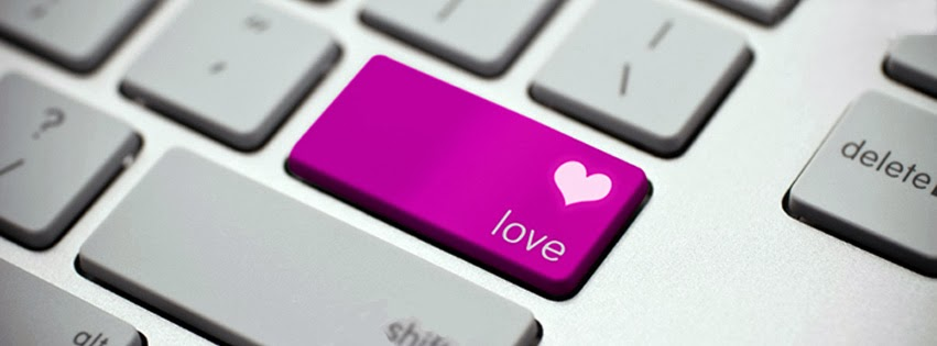 love keybord facebook cover photo