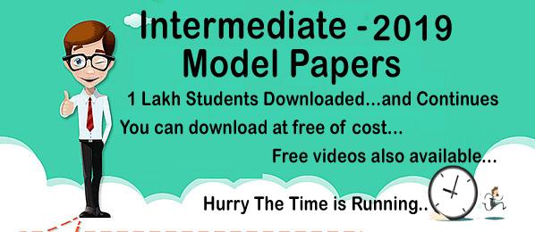 TS Intermediate Hall Tickets 2019 | Telangana Intermediate