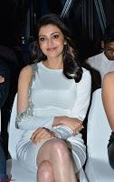 Beautiful Smiling Kajal Aggarwal in Creamy White Gown at MLA Telugu Movie Success Meet ~ .com Exclusive Pics 006.jpg
