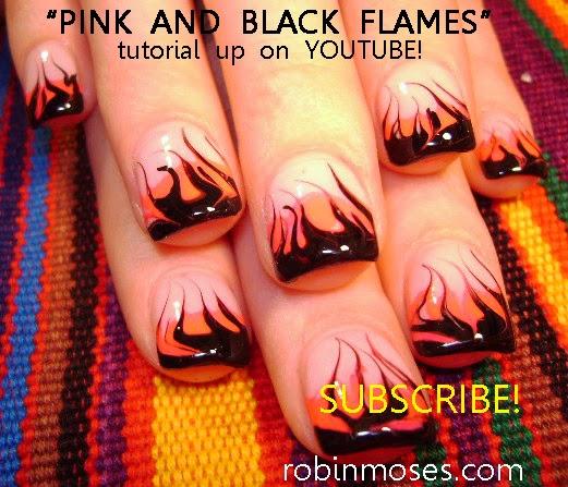 """Robin Moses Nail Art: """"nail Art"""" """"nail Art Flames"""" """"fire"""