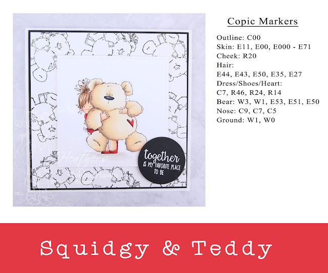 Heather's Hobbie Haven - Squidgy and Teddy Card Kit