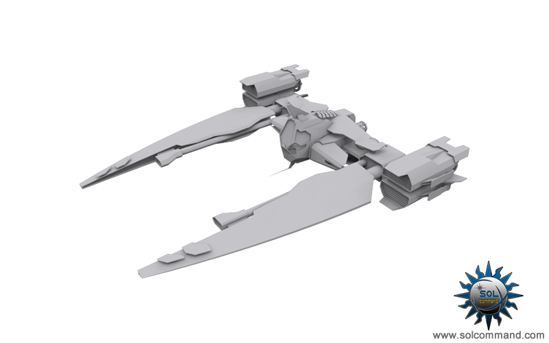Mak 1 fighter space ship combat war interceptor military style original concept art solcommand