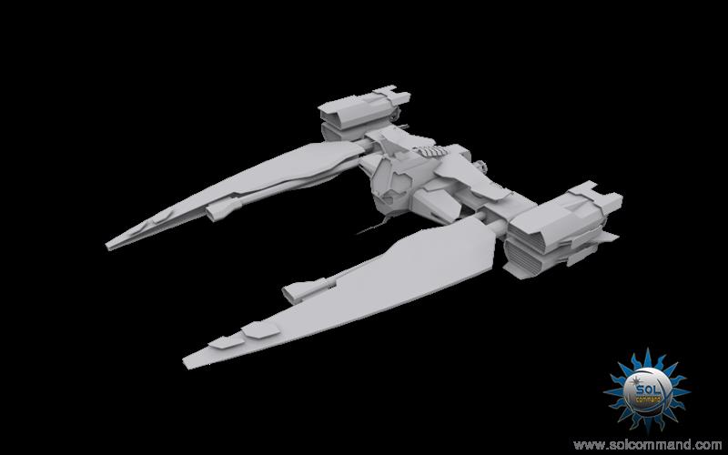 Mak 1 fighter space ship combat war interceptor military style original concept art solcommand