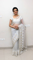 Kajal Agarwal New Pos in White Saree (5).jpg