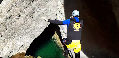 Canyoning in Horta de Sant Joan, Catalonia
