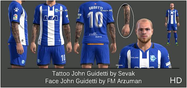 PES 2013 John Guidetti Face
