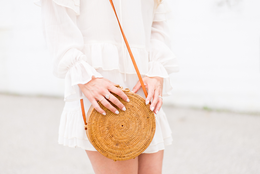 round rattan basket bag ellennjames outfit