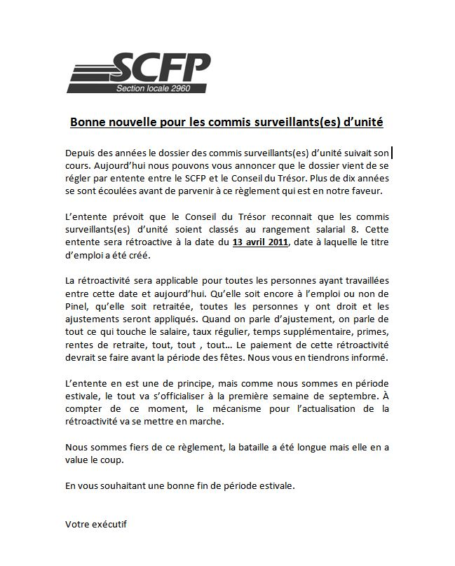 Scfp Section Locale 2960 2018