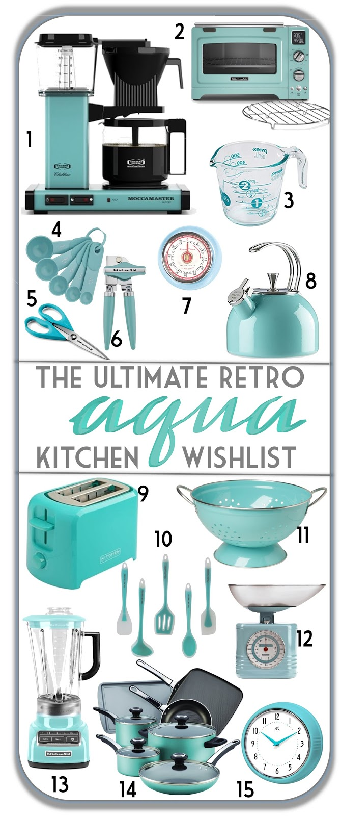 Mid Century Kitchen Must Haves In Aqua Turquoise Robin Egg Blue. Love The  Retro Vintage