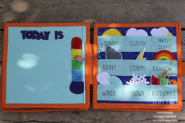 Quiet book for Ariana, Handmade personalized busy book made by TomToy, weather page