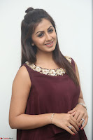 Nikki Galrani in a Brown Shining Sleeveless Gown at Nakshatram music launch ~  Exclusive 092.JPG
